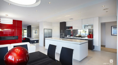 Kitchen design. - The Montrose Display Home - ceiling, interior design, kitchen, property, real estate, gray