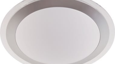FeaturesA clean, modern ceiling button incorporating a frosted ceiling fixture, lighting, product design, white