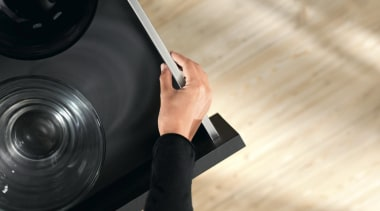 The new Legrabox drawer system from Blum boasts camera, camera lens, cameras & optics, photography, product, technology, orange, black