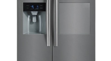 567L Side-by-Side Fridge FreezerGross Capacity: 567L348L Fridge + home appliance, kitchen appliance, major appliance, product, product design, refrigerator, gray, white
