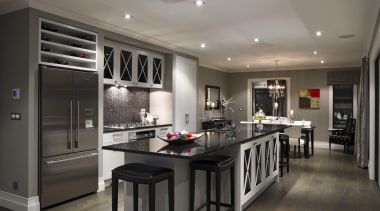 006albany showhome int 2 - Albany Showhome Int countertop, cuisine classique, interior design, kitchen, room, gray, black