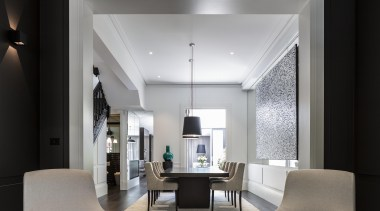 Richard Archer of Archer + Wright - Winner ceiling, interior design, living room, gray, black