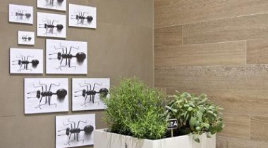 Bioplank noisette wall tiles. - Bioplank - flowerpot flowerpot, home, interior design, wall, brown, gray