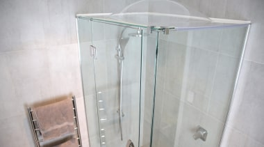 Enjoy the benefits of a drier, healthier home angle, bathroom, glass, plumbing fixture, product, property, room, shower, gray