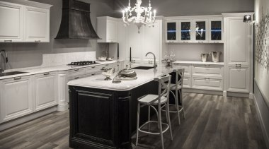 Snowy Ibiza - Kichen - Snowy Ibiza - cabinetry, countertop, cuisine classique, floor, flooring, hardwood, interior design, kitchen, room, wood flooring, gray, black