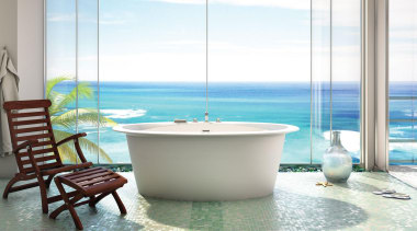 ora oval fs web.jpg - ora_oval_fs_web.jpg - bathtub bathtub, interior design, plumbing fixture, property, sea, swimming pool, table, window, white
