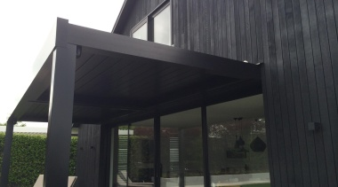 Kenny Rd. house 2.2 - Kenny Rd. house architecture, daylighting, facade, house, roof, shade, structure, black
