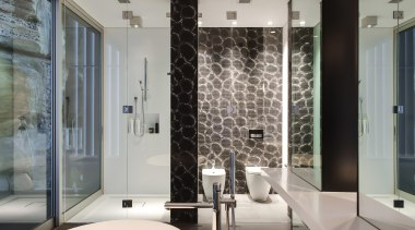 Winner Bathroom Design of the Year 2013 New bathroom, flooring, glass, interior design, wall, window, gray
