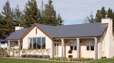 Classic house design by Design House Architecture - cottage, estate, facade, farmhouse, home, house, property, real estate, roof, siding, gray, brown