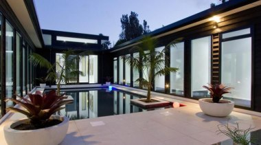 A contemporary house design by Design House Architecture apartment, architecture, estate, home, house, interior design, property, real estate, swimming pool, villa, window, gray, black