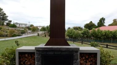 Feature of the loggia in a Taranaki home memorial, white