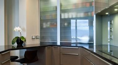 Mt Victoria Kitchen - Mt Victoria Kitchen - cabinetry, ceiling, countertop, glass, interior design, kitchen, gray