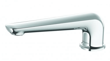 A modern twist to the popular minimalist look, bathtub accessory, hardware, plumbing fixture, product, tap, white