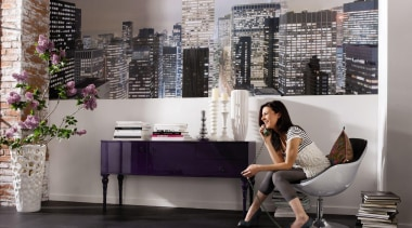Metropolitain Interieur - Italian Color Range - furniture furniture, interior design, shelving, wall, gray, black