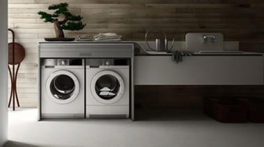 Utilitarian spaces such as laundry rooms and mudrooms clothes dryer, home appliance, laundry, laundry room, major appliance, product, product design, washing machine, gray, black