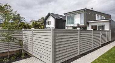 theblock2014033.jpg - theblock2014033.jpg - facade | fence | facade, fence, home, home fencing, house, property, real estate, siding, gray, white