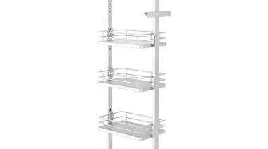 Giamo Short Pull Out Pantry Unit with Solid furniture, product, product design, shelf, shelving, structure, white