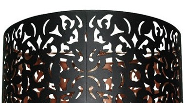 FeaturesA drum shade with an innovative laser cut, lighting, black, white