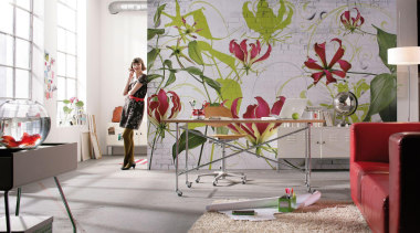 Gloriosa Interieur - Italian Color Range - floral floral design, floristry, flower, furniture, home, house, interior design, living room, room, table, wall, window, white, gray