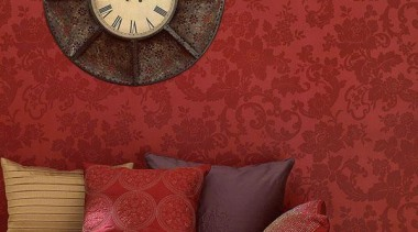 Norwall Room Simply Silks - Simply Silks II clock, home accessories, still life photography, wall, wallpaper, red