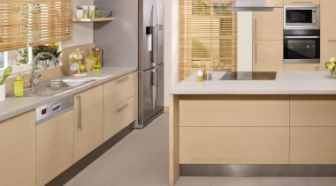 Product Images - Kitchens - cabinetry | countertop cabinetry, countertop, cuisine classique, floor, flooring, home appliance, interior design, kitchen, tile, wood, gray, orange