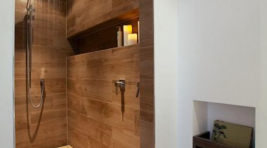Etic wood look tiles - Etic wood look bathroom, ceiling, floor, flooring, hardwood, home, interior design, lighting, property, real estate, room, tile, wall, wood, wood flooring, gray, brown
