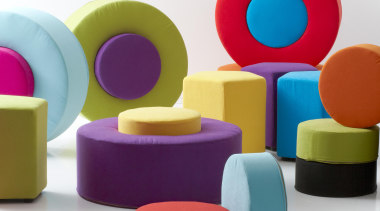 Ashcroft featuring a modern colour palette and using chair, furniture, plastic, product, product design, purple, table, toy block, white