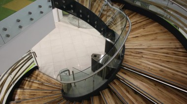 Spiral Staircase - Spiral Staircase - floor   floor, handrail, stairs, wood, brown, gray