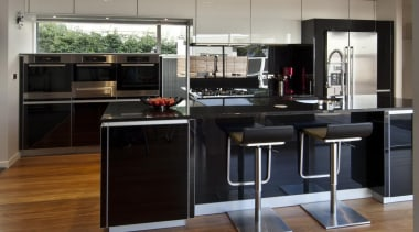 Lower Hutt Kitchen - Lower Hutt Kitchen - cabinetry, countertop, cuisine classique, floor, flooring, hardwood, interior design, kitchen, black, gray