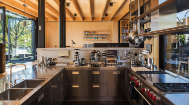 Takapuna, Auckland (designed in association with Rachael Rush) countertop, interior design, kitchen, real estate, black