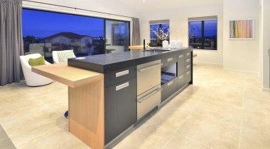 Kitchen design by Yellowfox - Kitchen Area - countertop, floor, flooring, furniture, interior design, kitchen, property, table, orange