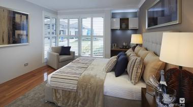 Master ensuite design. - The Meridian Two Storey bed frame, bedroom, ceiling, home, interior design, living room, property, real estate, room, window, gray