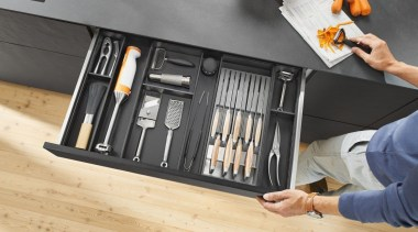 AMBIA-LINE kitchen accessories – organization at its best. furniture, product design, tool, orange, gray