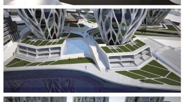 'Grace on Coronation' is a design by British-Iraqi architecture, automotive design, automotive exterior, design, graphics, motor vehicle, structure, gray