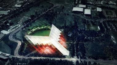 Estadio Diablos is the new stadium design for phenomenon, structure, visual effects, world, black