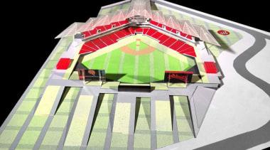 Estadio Diablos is the new stadium design for architecture, area, arena, line, product design, soccer specific stadium, sport venue, stadium, structure, black