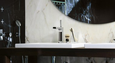axor citterio ambience for Hansgrohe - axor citterio bathroom, interior design, room, sink, tap, black, white