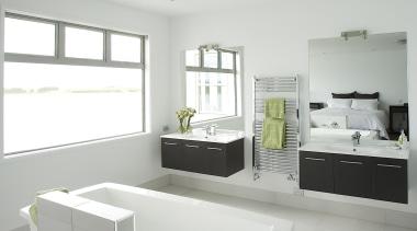For more information, please visit www.gjgardner.co.nz architecture, bathroom, floor, home, house, interior design, product design, room, sink, tap, gray