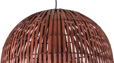 FeaturesA stunning large scale décor pendant styled with ceiling fixture, copper, light fixture, lighting, white, red