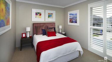 Bedroom design. - The Meridian Two Storey Display bedroom, ceiling, home, interior design, real estate, room, gray