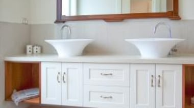 Classic house design by Design House Architecture - bathroom accessory, bathroom cabinet, cabinetry, chest of drawers, countertop, cuisine classique, drawer, floor, flooring, furniture, home, interior design, kitchen, room, wall, gray, white