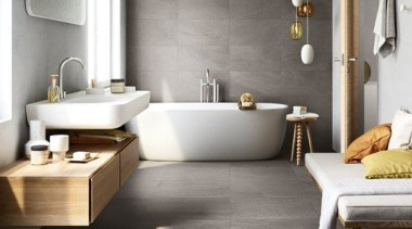 Limestone - bathroom | ceramic | floor | bathroom, ceramic, floor, flooring, interior design, laminate flooring, plumbing fixture, product design, room, sink, tap, tile, wall, wood flooring, gray