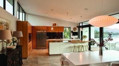 Sliding doors - ceiling | countertop | interior ceiling, countertop, interior design, kitchen, living room, real estate, room, brown