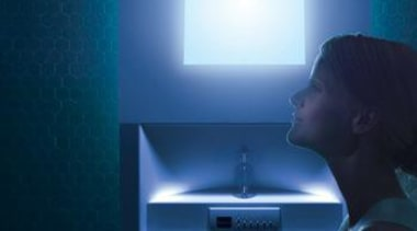 Chromatherapy is one of five therapies included in blue, display device, light, light fixture, lighting, multimedia, sky, blue