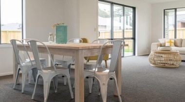 Christchurch Showhome - Christchurch Showhome - chair | chair, dining room, floor, flooring, furniture, home, interior design, kitchen & dining room table, living room, property, room, table, gray