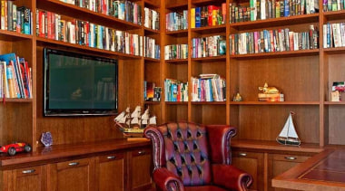 Classic Feel Library - bookcase | furniture | bookcase, furniture, interior design, library, public library, shelving, brown
