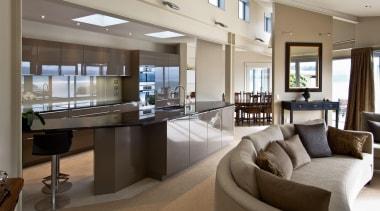 Mt Victoria Kitchen - Mt Victoria Kitchen - apartment, interior design, living room, penthouse apartment, real estate, gray, brown