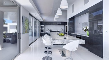 Winner Kitchen Design fo the Year 2013 South architecture, house, interior design, interior designer, kitchen, living room, product design, gray