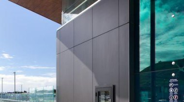 Exterior cladding featuring Laminam Filo Pece - Laminam architecture, building, daylighting, facade, glass, house, window, gray