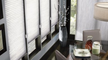 luxaflex duette shades - luxaflex duette shades - curtain, dining room, interior design, living room, room, shade, window, window blind, window covering, window treatment, white, black, gray